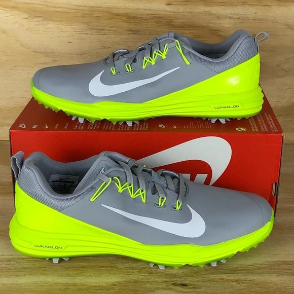 save off e7555 b38f5 Nike Lunar Command 2 Grey Volt Golf Shoes Size 10